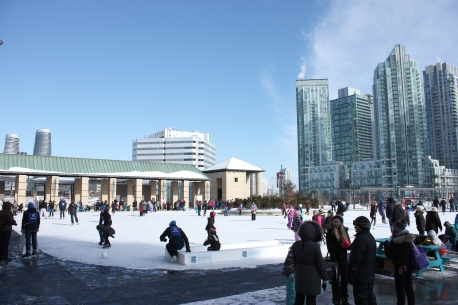 Skating at the Square